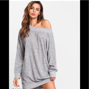 Dresses & Skirts - Off Shoulder Light Marled Knit Sweater Dress ✨